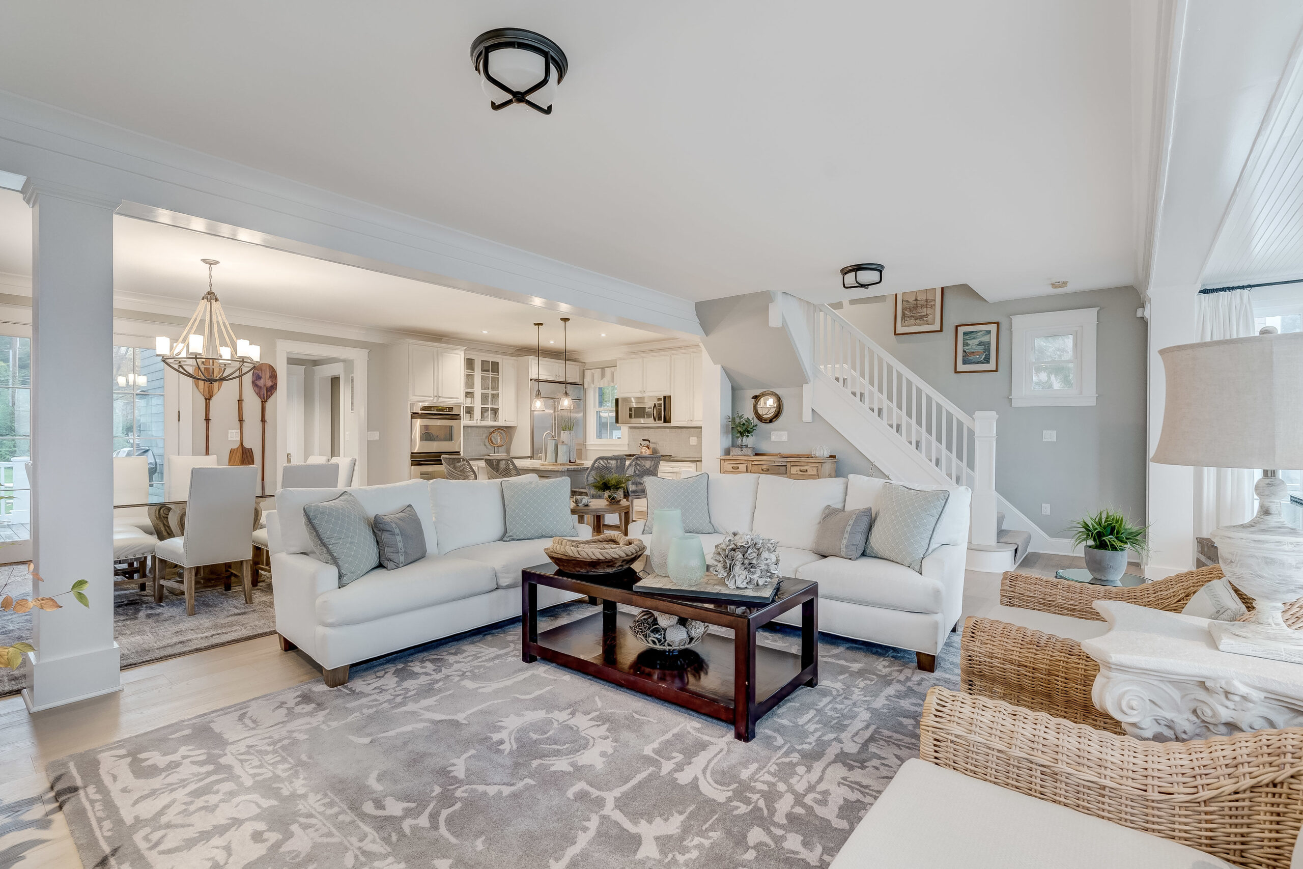 Comfortable seating in Family Room